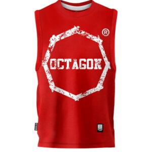 Gilet Octagon Logo Smash red
