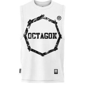 Gilet Octagon Logo Smash white