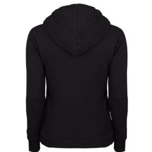 "Womens Sweatshirt Octagon ""LOGO"" Black With Hood"