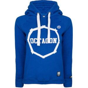 "Womens Sweatshirt Octagon ""LOGO"" Blue With Hood"