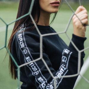 "Womens Sweatshirt ""STRIPE"" Black"