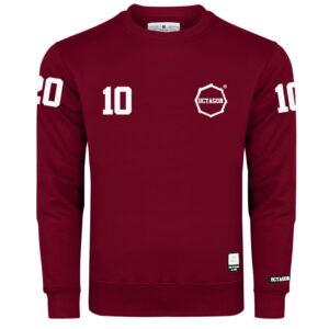 """Sweatshirt Octagon """"10"""" burgund"""