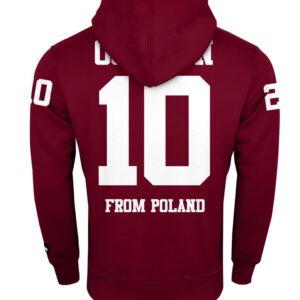 """Sweatshirt Octagon """"10"""" burgund Hoodie"""