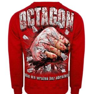 Sweatshirt Octagon Nie ma wrażeń bez obrażeń Red
