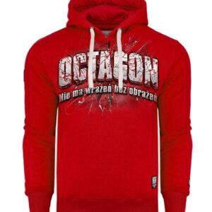 Sweatshirt Octagon Nie ma wrażeń bez obrażeń Red Hoodie