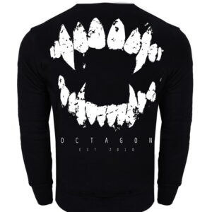 Sweatshirt Octagon Teeth Black