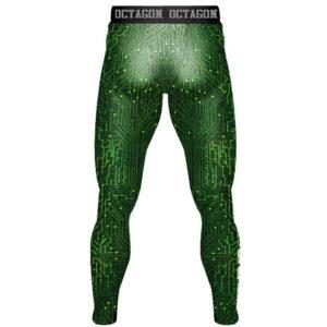 'Men''s Leggingse Octagon Mainboard Green'