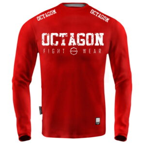 'Men''s Long Sleeve Octagon Fight Wear red'