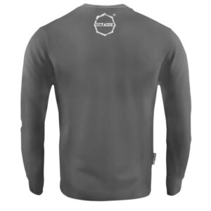 'Men''s Long Sleeve Octagon Logo Smash Grey'