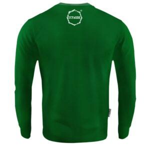 'Men''s Long Sleeve Octagon Logo Smash Green'