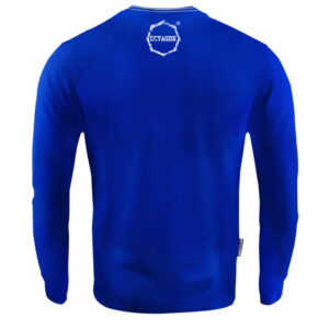 'Men''s Long Sleeve Octagon Logo Smash blue'