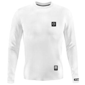 'Men''s Long Sleeve Octagon Small Logo white'