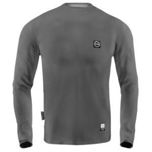'Men''s Long Sleeve Octagon Small Logo Grey'