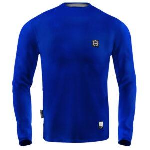 'Men''s Long Sleeve Octagon Small Logo blue'