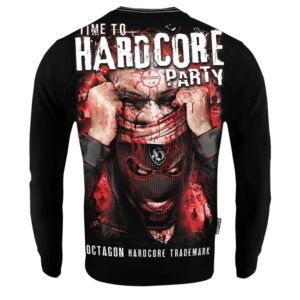 'Men''s Long Sleeve Octagon Time To Hardcore Party'