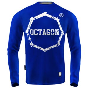 'Men''s Long Sleeve Octagon Teeth blue'
