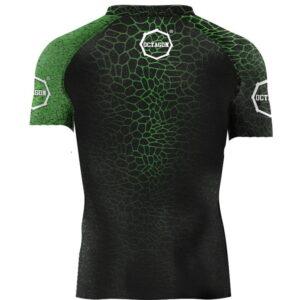 Rash Guard Octagon Super Serum Green Short Sleeve