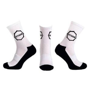 Socks Octagon White Black logo