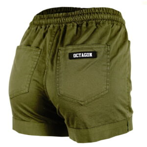 Womens Shorts Octagon Regular Khaki