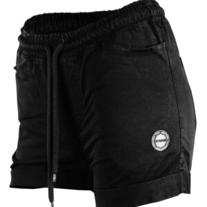 Womens Shorts Octagon Regular Black