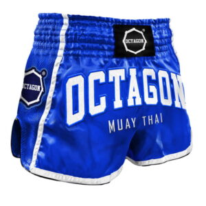 Muay Thai Shorts Octagon Blue/White