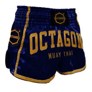 Muay Thai Shorts Octagon Dark navy/Gold