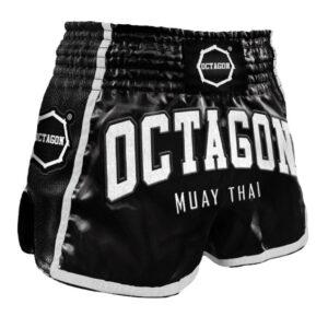 Muay Thai Shorts Octagon Black/White