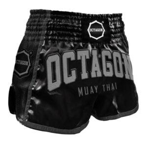 Muay Thai Shorts Octagon Black/Grey