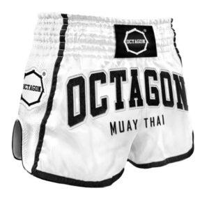 Muay Thai Shorts Octagon White