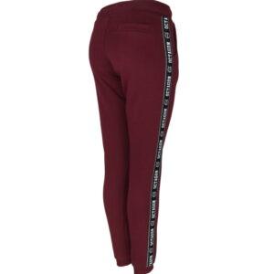 "Womens Trousers Octagon ""STRIPE"" burgundowe"