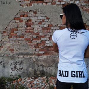 'Woman''s T-Shirt Octagon BAD GIRL White '