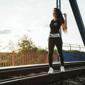 'Woman''s T-Shirt Octagon BAD GIRL Black'