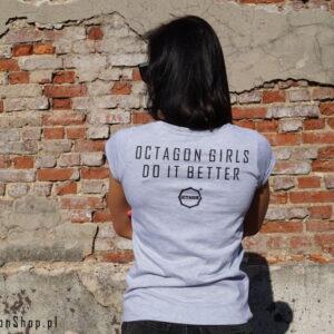 'Woman''s T-Shirt Octagon DO IT BETTER Grey'