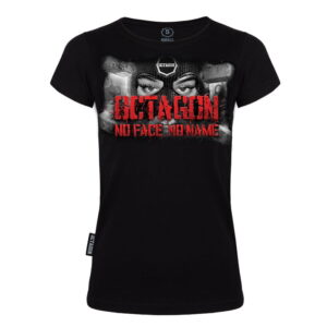 "'Woman''s T-Shirt Octagon ""NO FACE NO NAME""'"