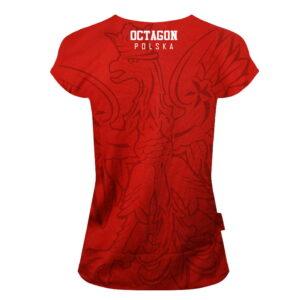 'Woman''s T-Shirt Octagon POLSKA Red'