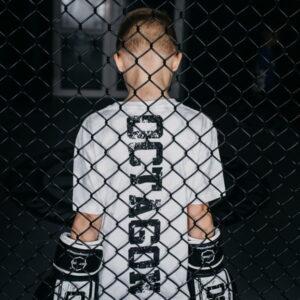 Kids T-shirt Octagon Fight Wear White