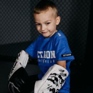 Kids T-shirt Octagon Fight Wear Blue