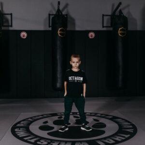 Kids T-shirt Octagon Fight Wear Black