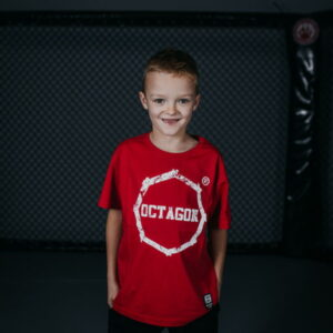 Kids T-shirt Octagon Logo Smash Red