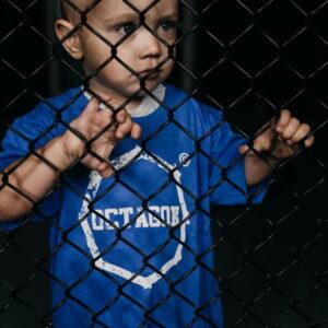 Kids T-shirt Octagon Logo Smash Blue