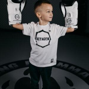 Kids T-shirt Octagon Teeth White