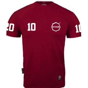"""T-shirt Octagon """"10"""" burgund"""