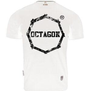 T-shirt Octagon Logo Smash white