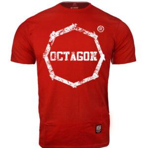 T-shirt Octagon Logo Smash red