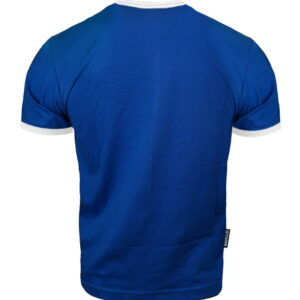 T-shirt Octagon Small Logo Caption blue