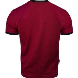 T-shirt Octagon Small Logo Caption burgund