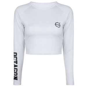 Womens Top Octagon White Long